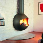 Focus - EMIFOCUS wood fireplace, exhaust outlet upwards