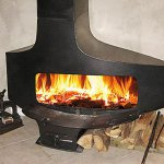 Focus - HETEROFOCUS 1400 wood fireplace